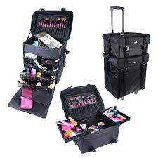 shany soft makeup artist rolling trolley cosmetic case