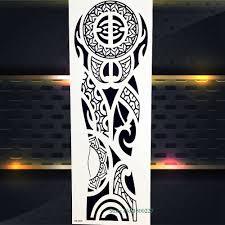 водостойкая татуировка на всю руку наклейка роза череп молиться Nun меч будда