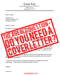 cover letter do you need a cover letter