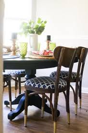 milk paint dining table makeover