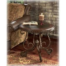 t382 6 ashley furniture rafferty dark brown living room end table