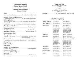 program template for wedding wedding program template in word and pdf formats