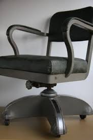 industrial office chairs. vtg machine age mid century modern retro industrial tanker desk office chair chairs