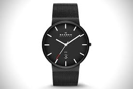 black out 21 best all black watches for men hiconsumption skagen ancher steel mesh watch