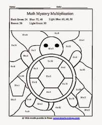 Multiplication Color Sheet Free Coloring Sheet Coloring Home