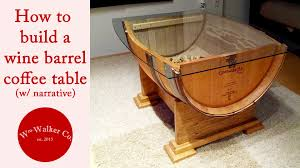 Wine barrel furniture plans Bench Bonfirefunds How To Make Wine Barrel Coffee Table w Narrative Youtube