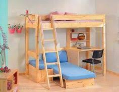 bunk bed with desk and couch. Loft Beds With Couch Underneath | Pine High Sleeper - Bunk Bed Desk And
