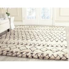 white and black rug with regard to safavieh handmade casablanca moroccan berber flokati ivory