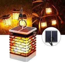 solar powered flickering flame light 75 led outdoor wall lamp outdoor garden tree decoration cod