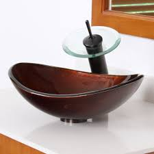 glass vessel sinks for bathrooms. ELITE 1411 Unique Oval Artistic Bronze Tempered Glass Bathroom Vessel Sink Sinks For Bathrooms B