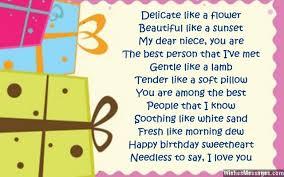birthday poems for niece