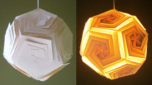 DIY pendant lampshade/lantern - home and room decor - EzyCraft - YouTube