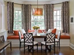 Hanging Eyelet Curtains In A Bay Window Curtain MenzilperdeNet - Bay window in dining room