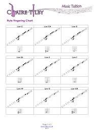 Flute Finger Chart All Notes Flute Fingering Chart