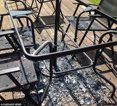 asda glass patio table exploded into a