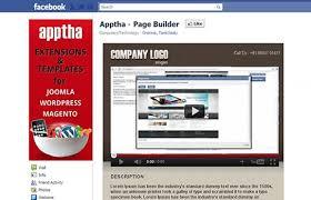Facebook Page Builder Customized Joomla Facebook Page