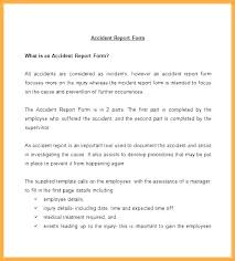 Samples Of Incident Reports Work Report Template Workplace