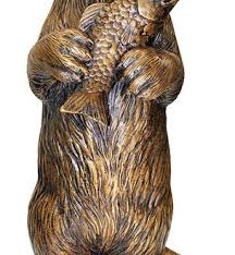 bronze garden statues. bronze garden statues incredible standing otter with fish cast statue beach style for 18