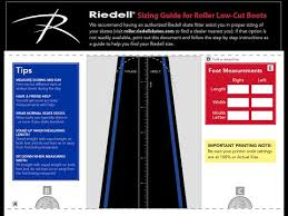 Riedell Boot Size Chart Sizing Help Riedell Roller Skates