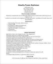 Resume Templates: Child Protection Social Worker