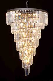 g gallery chandeliers odeon crystal glass fringe tier