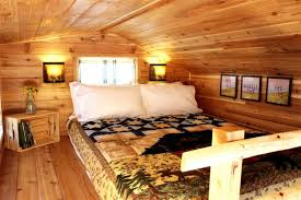 tiny house hotel. a sleeping loft in one of the tiny digs cabins. house hotel