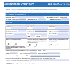 Walmart Ponca City Ok Walmart Application Pdf Print Out