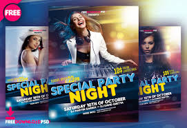 Night Party Flyer Free Download Freedownloadpsd Com