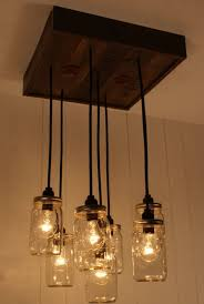 mason jar lighting fixture. image of hanging mason jar lights lighting fixture
