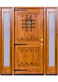krosswood knotty alder 2 panel top rail arch with v grooves door 2 full