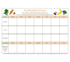 Weekly Meal Planer 40 Weekly Meal Planning Templates Template Lab