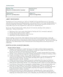 Executive Administrative Assistant Job Description Template