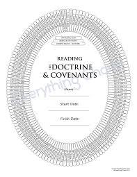 Free Scripture Reading Chart Doctrine And Covenants