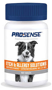 Amazon.com : Pro-Sense Itch & Allergy Solutions for Pets, 100-Count ...