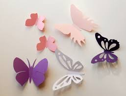 3d Butterfly Wall Decor Wall Decals White 3d Paper Butterfly Wall Sticker Room