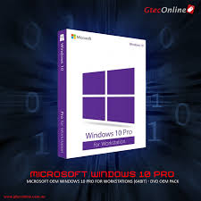 Designed For Windows 10 Microsoft Oem Windows 10 Pro For Workstations 64bit Dvd