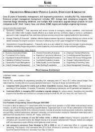 Building A Professional Resumes Resume Sample 10 Engineering Management Resume Career