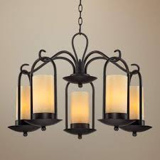 diy candle chandelier