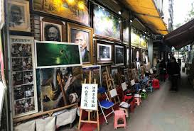 dafen oil painting village oil paitings on wall at this you can paint your masterpiece
