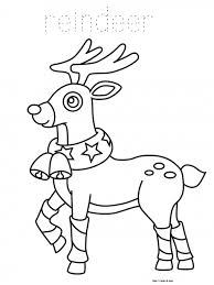 Small Picture Coloring Pages Christmas Reindeer Coloring Page Free Printable