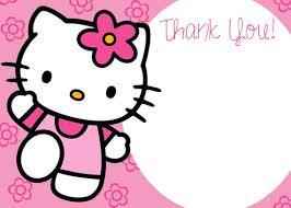 Hello Kitty Party Invitation Hello Kitty Birthday Invitation Thank You Card 5x7 Digital Files