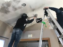 how to apply knockdown ceiling texture
