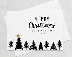 Christmas Card Photo Holiday Card Black And White Red Etsy