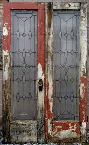 ANTIQUE STAINED GLASS DOUBLE ENTRANCE FRENCH DOORS 48 x 80 ...