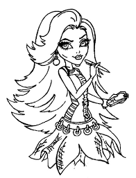 Small Picture 229 best Monster High Coloring Page images on Pinterest