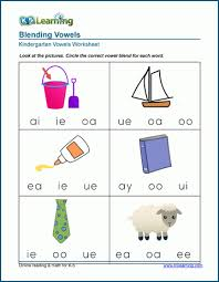 A phonics blend occurs when you have two or more letters appearing together and you can hear each sound that each consonant would normally make. Vowel Blends Worksheets For Preschool And Kindergarten K5 Learning