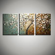 3 panel wall art canvas tree acrylic decorative pictures hand painted decoraion painting oil paintings modern flower on canvas in painting calligraphy