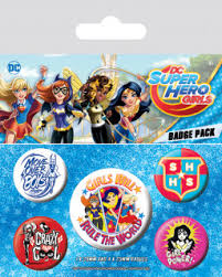 <b>Набор значков DC</b> Super Hero Girls: Girls Will Rule The World 5 ...