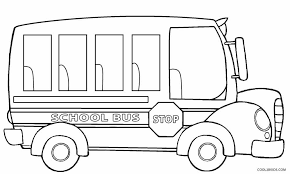 Small Picture Best School Bus Coloring Page Printable 55 For Your Gallery