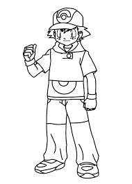 Boy From Pokemon Anime Coloring Pages